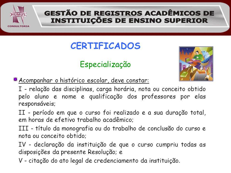 CERTIFICADOS Especialização
