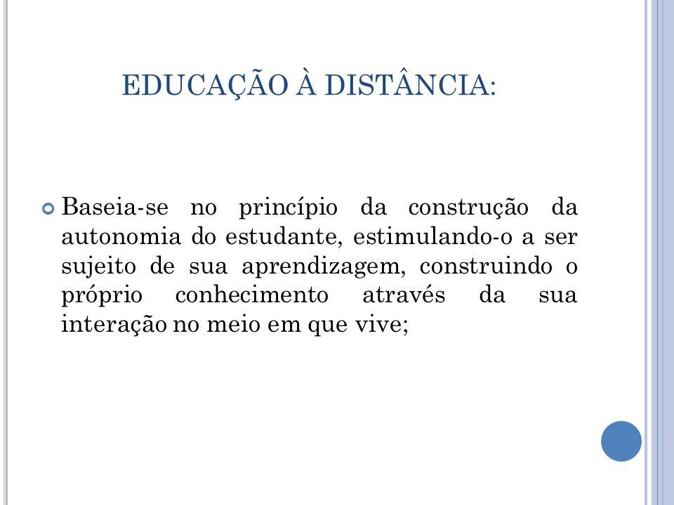 EDUCAÇÃO À DISTÂNCIA: