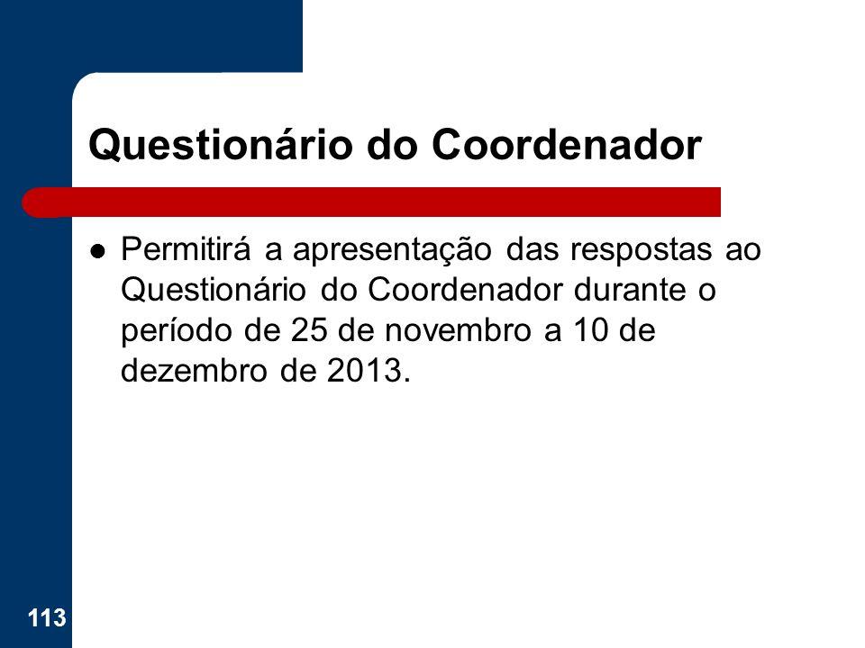 Questionário do Coordenador