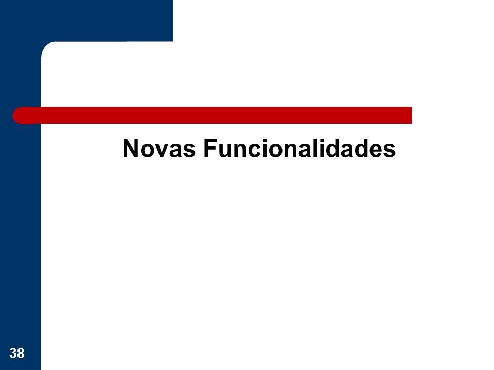 Novas Funcionalidades