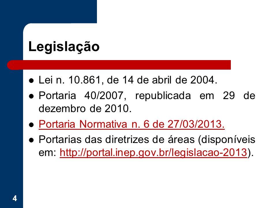 Legislação Lei n. 10.861, de 14 de abril de 2004.