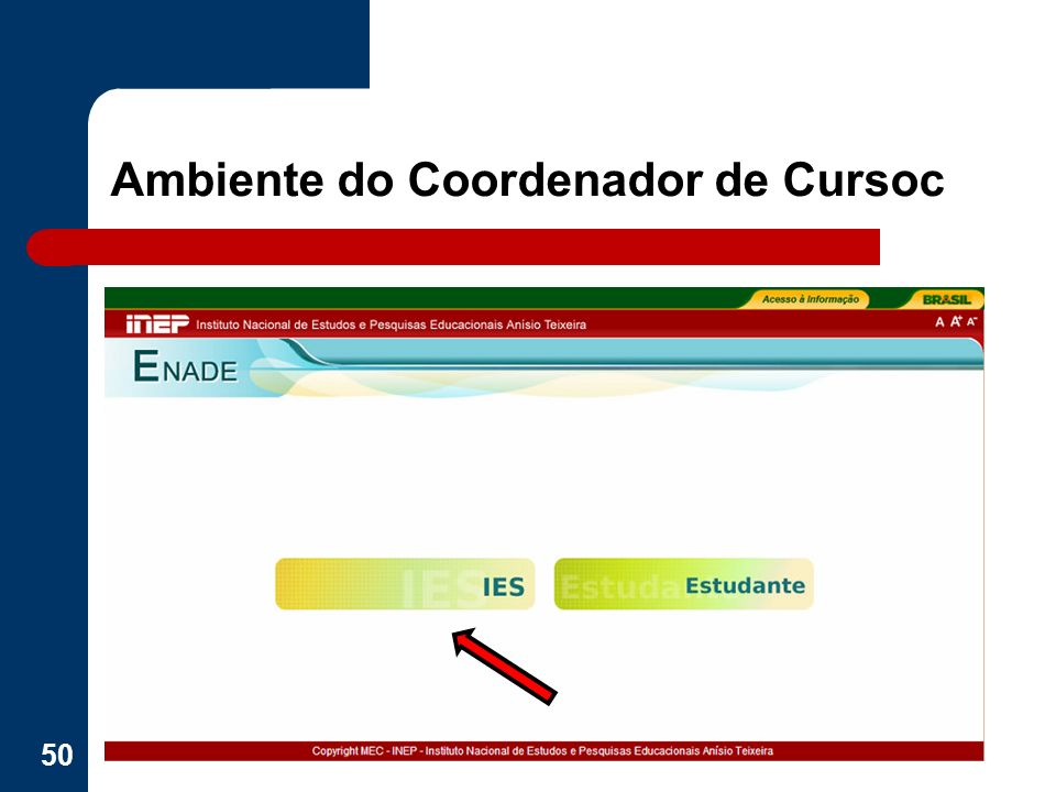 Ambiente do Coordenador de Cursoc