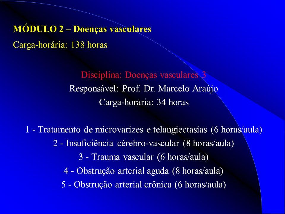 MÓDULO 2 – Doenças vasculares Carga-horária: 138 horas
