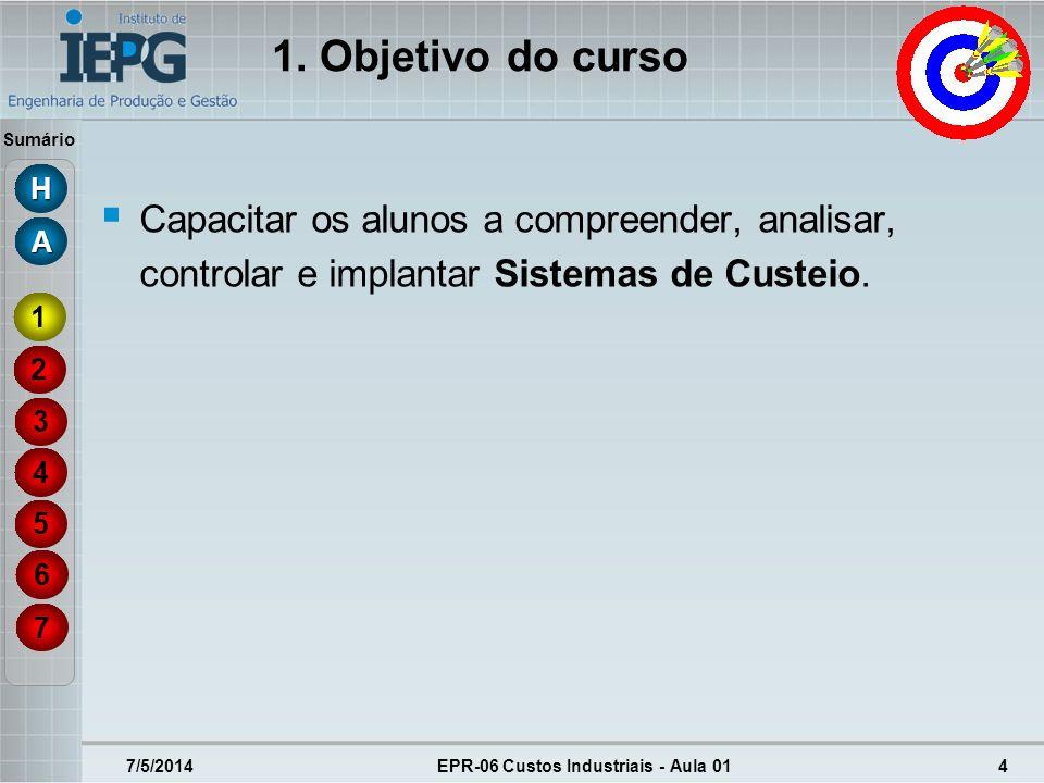 EPR-06 Custos Industriais - Aula 01
