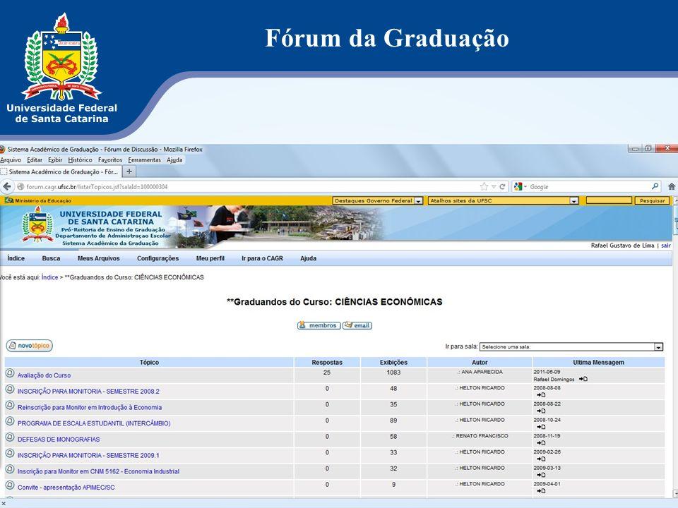 Fórum da Graduação