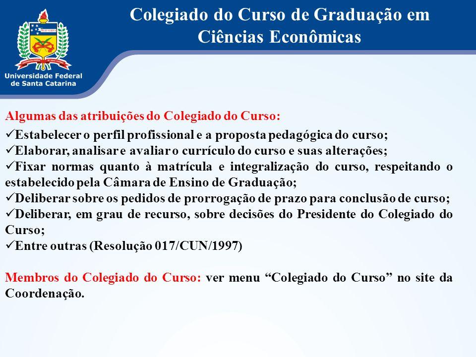 Colegiado do Curso de Graduação em Ciências Econômicas