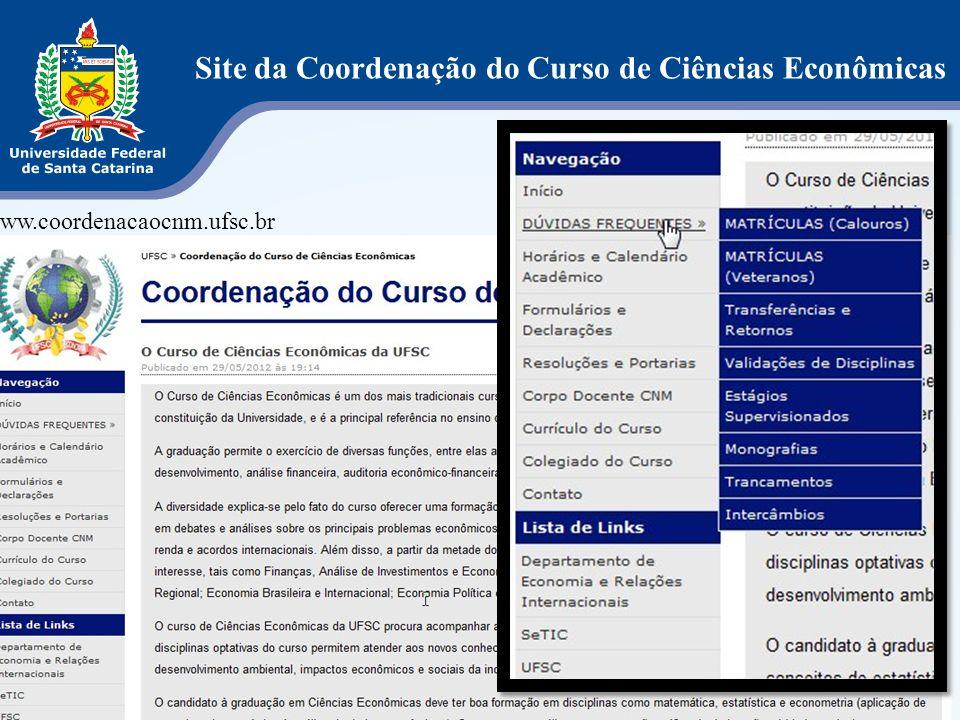 Site da Coordenação do Curso de Ciências Econômicas
