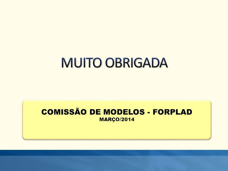 COMISSÃO DE MODELOS - FORPLAD