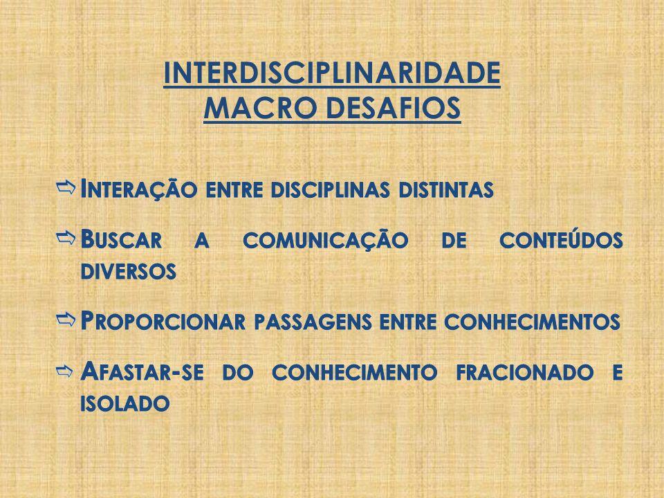 INTERDISCIPLINARIDADE