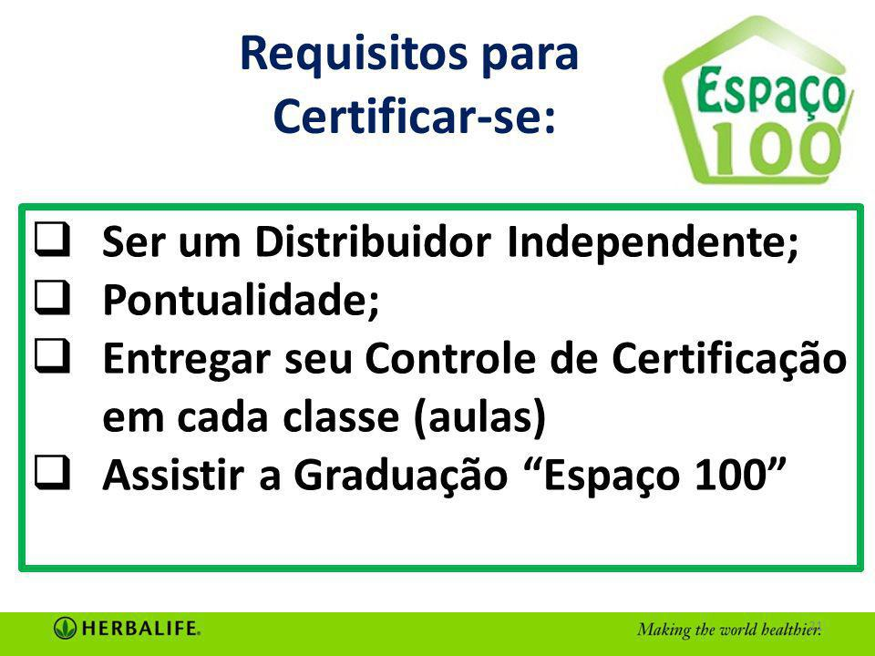Requisitos para Certificar-se: