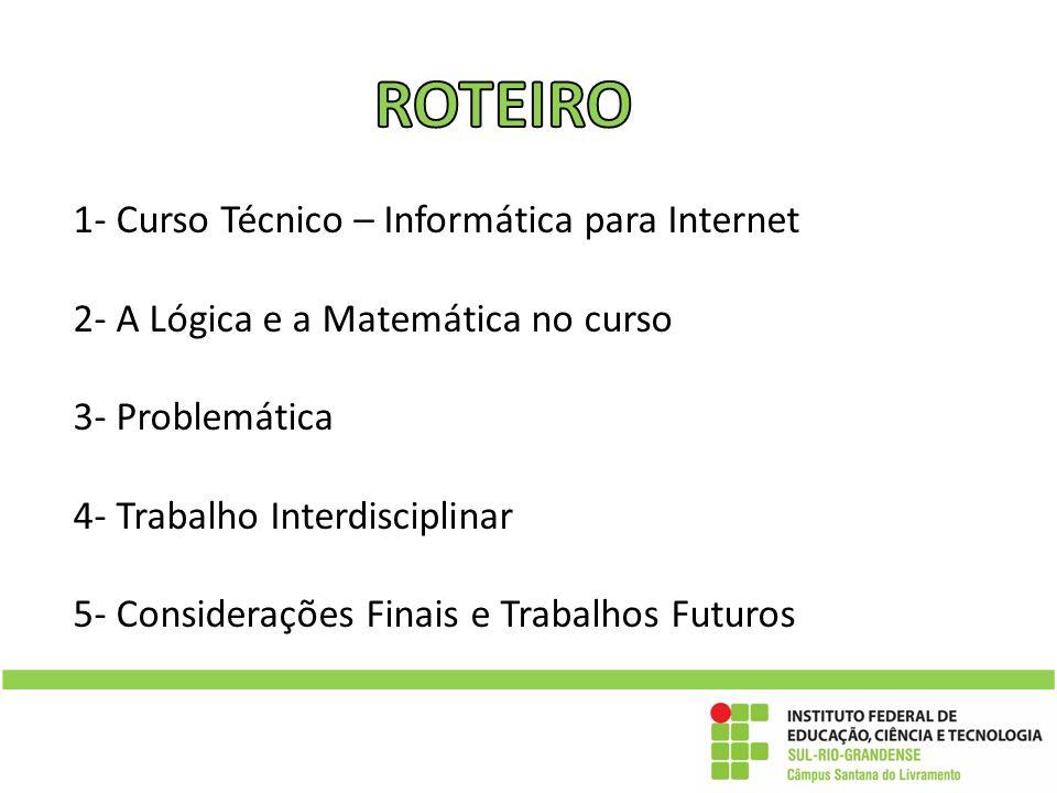 ROTEIRO 1- Curso Técnico – Informática para Internet