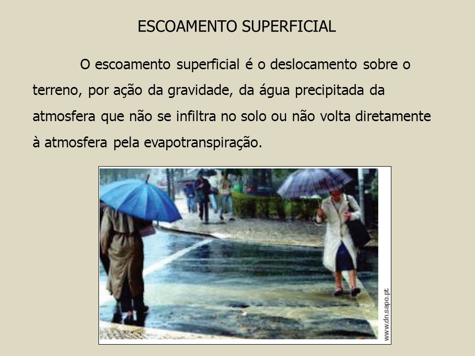 ESCOAMENTO SUPERFICIAL