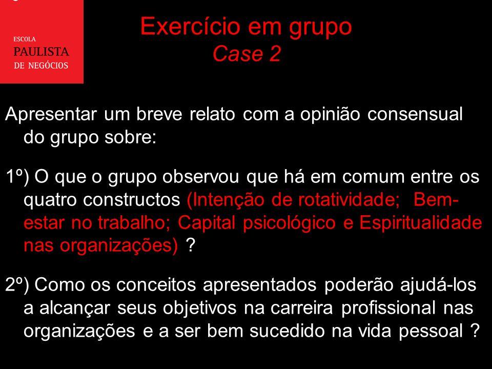 Exercício em grupo Case 2