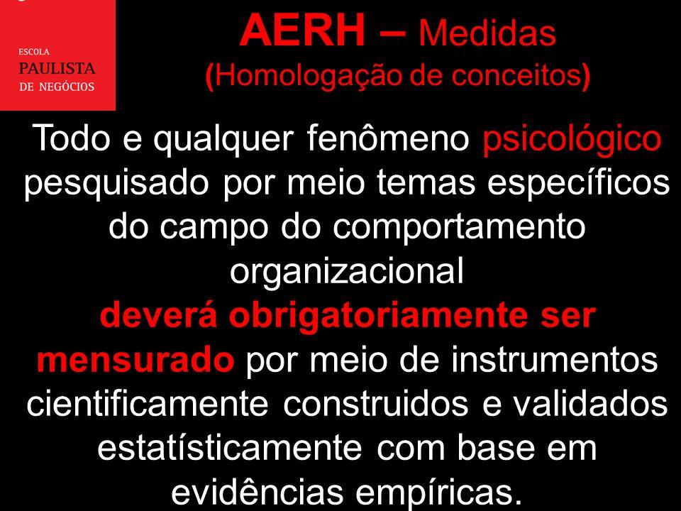 AERH – Medidas (Homologação de conceitos)