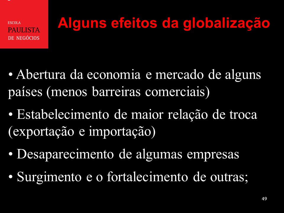 Alguns efeitos da globalização