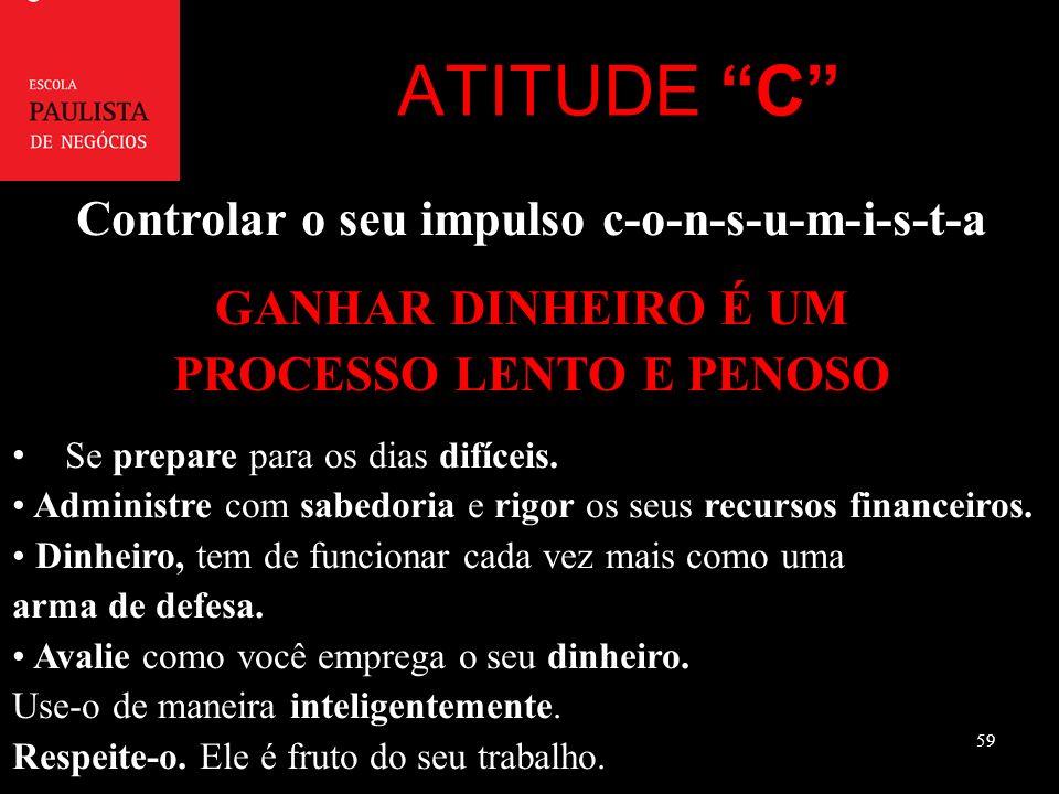 ATITUDE C Controlar o seu impulso c-o-n-s-u-m-i-s-t-a