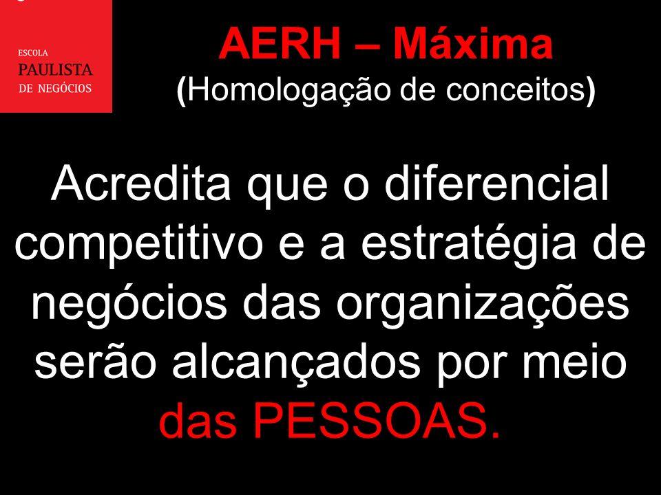 AERH – Máxima (Homologação de conceitos)