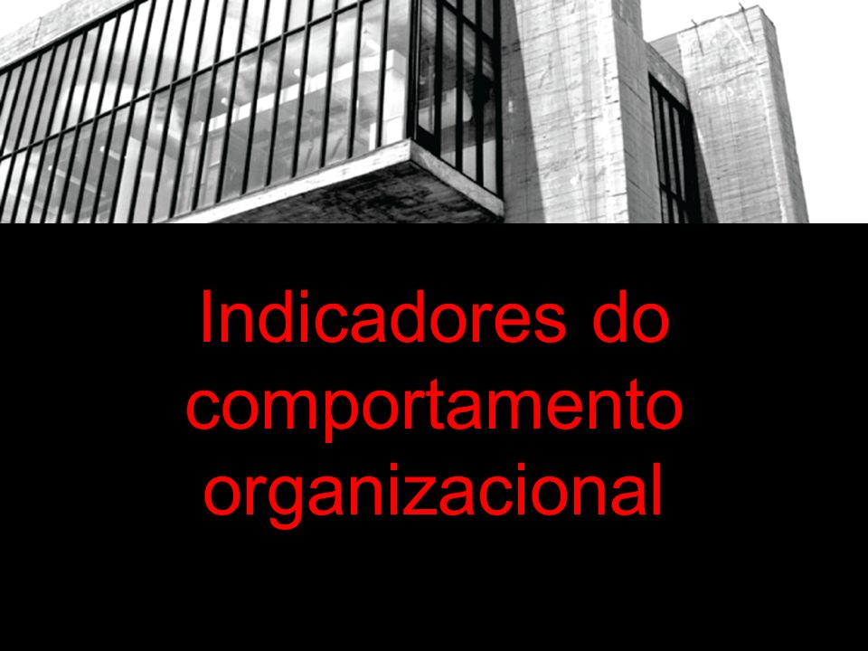 Indicadores do comportamento organizacional