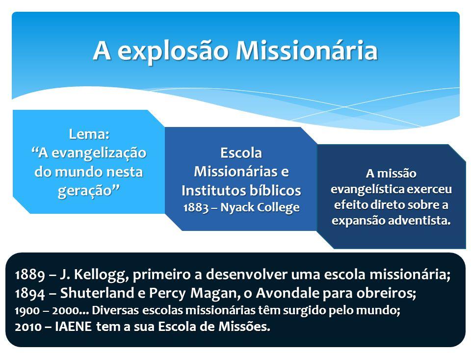 A explosão Missionária