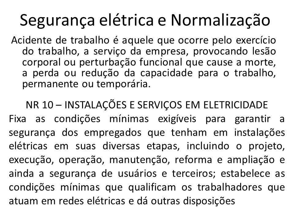 Segurança elétrica e Normalização