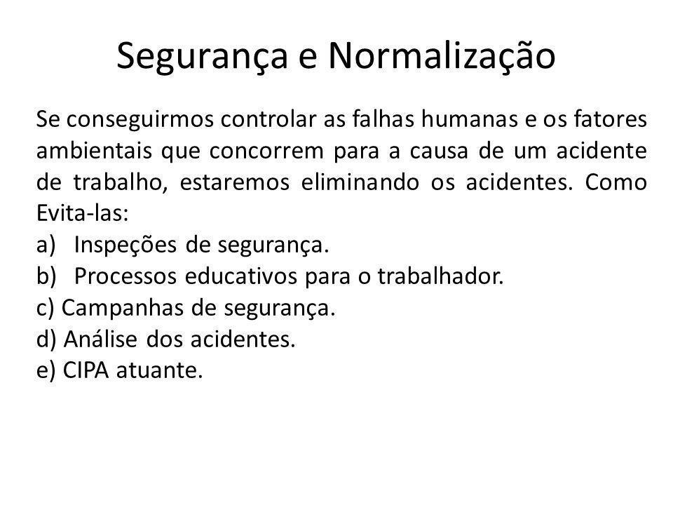 Segurança e Normalização
