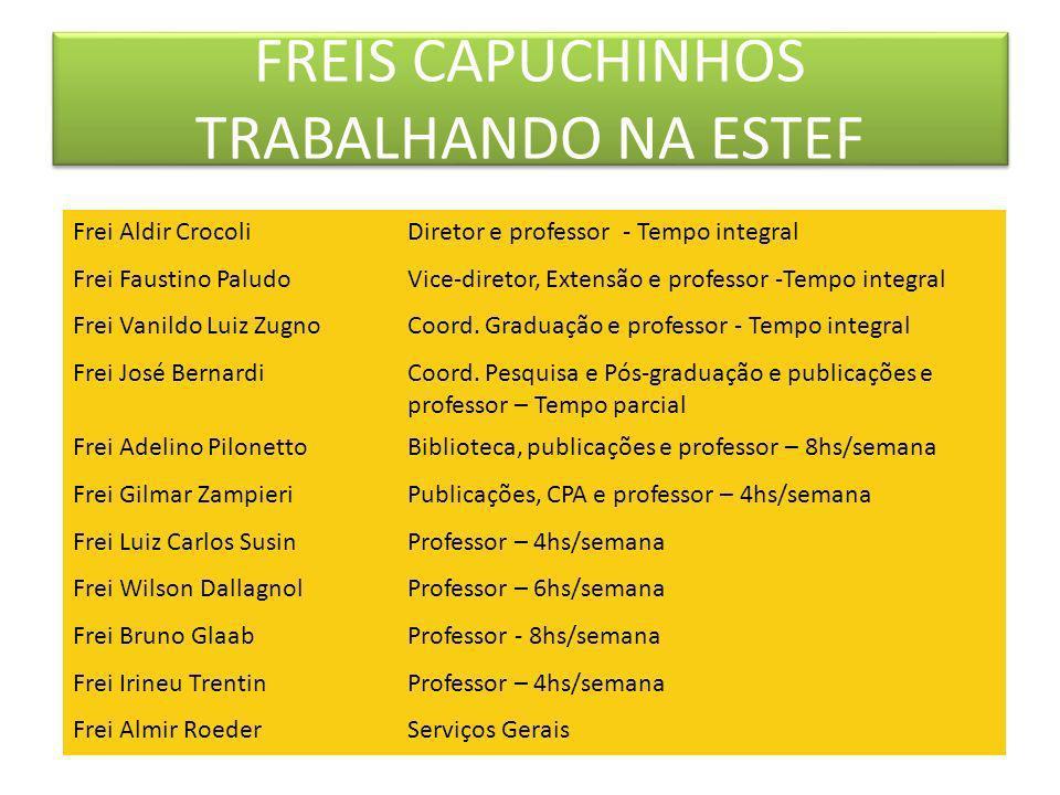 FREIS CAPUCHINHOS TRABALHANDO NA ESTEF