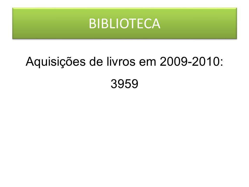 Aquisições de livros em 2009-2010: