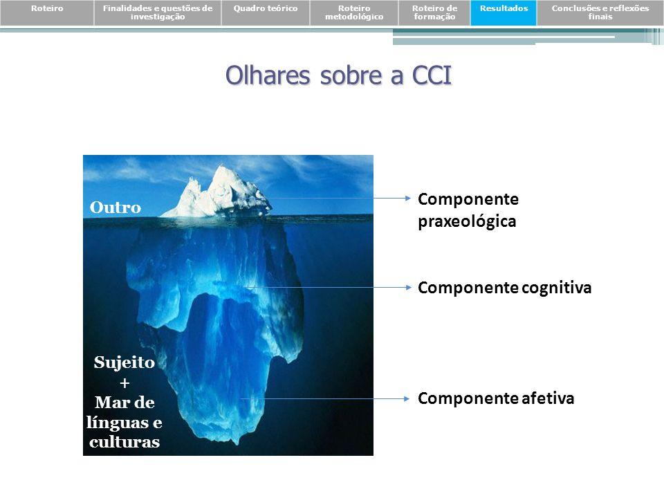 Olhares sobre a CCI Componente praxeológica Componente cognitiva