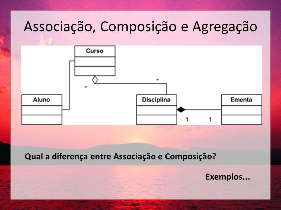 Associação, Composição e Agregação