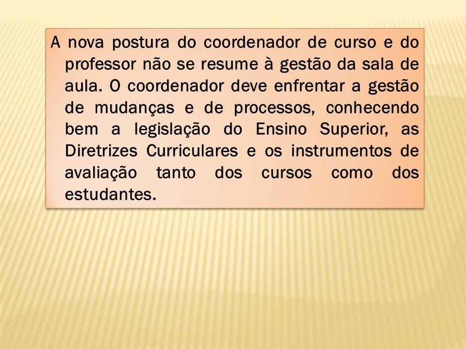 A nova postura do coordenador de curso e do professor não se resume à gestão da sala de aula.