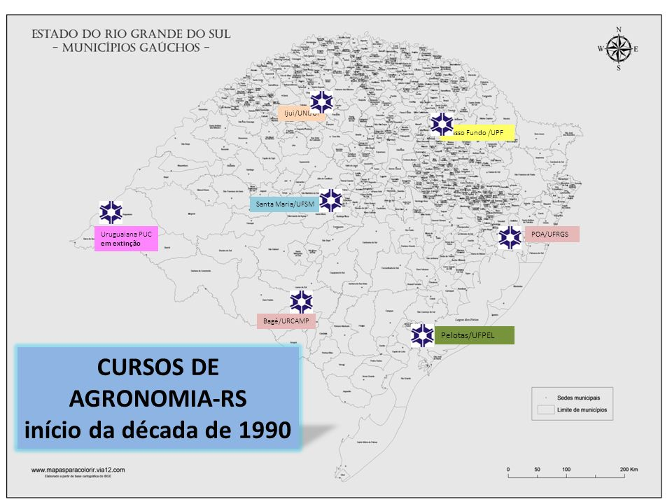 CURSOS DE AGRONOMIA-RS