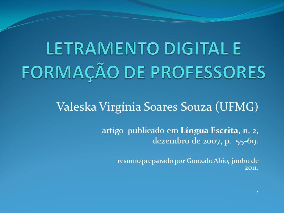 LETRAMENTO DIGITAL E FORMAÇÃO DE PROFESSORES