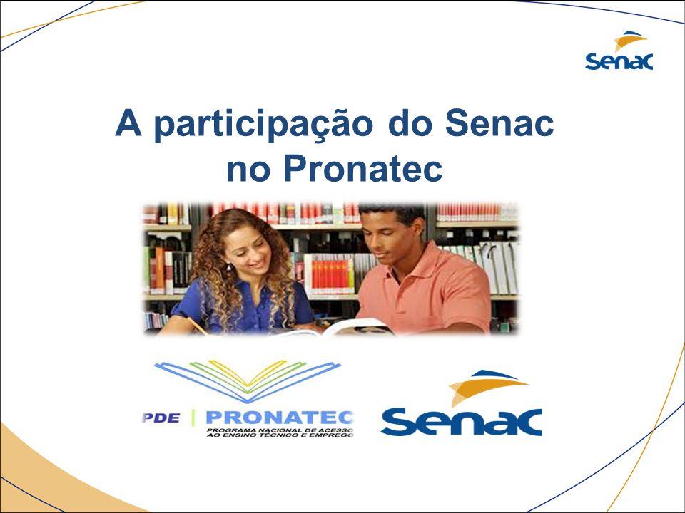 A participação do Senac no Pronatec