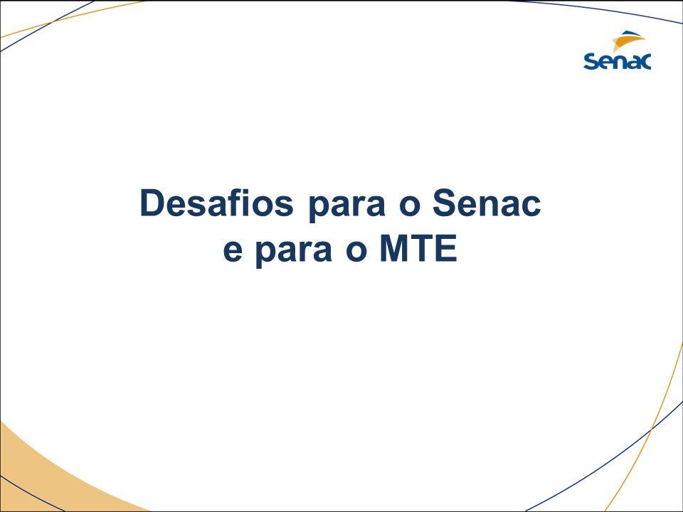 Desafios para o Senac e para o MTE