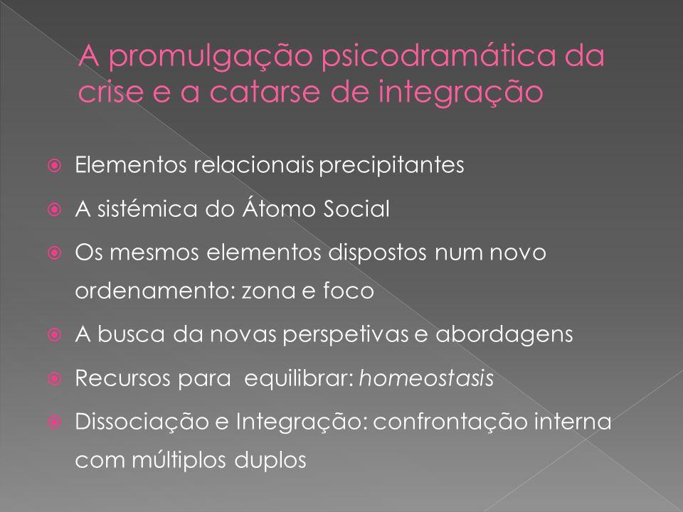 A promulgação psicodramática da crise e a catarse de integração