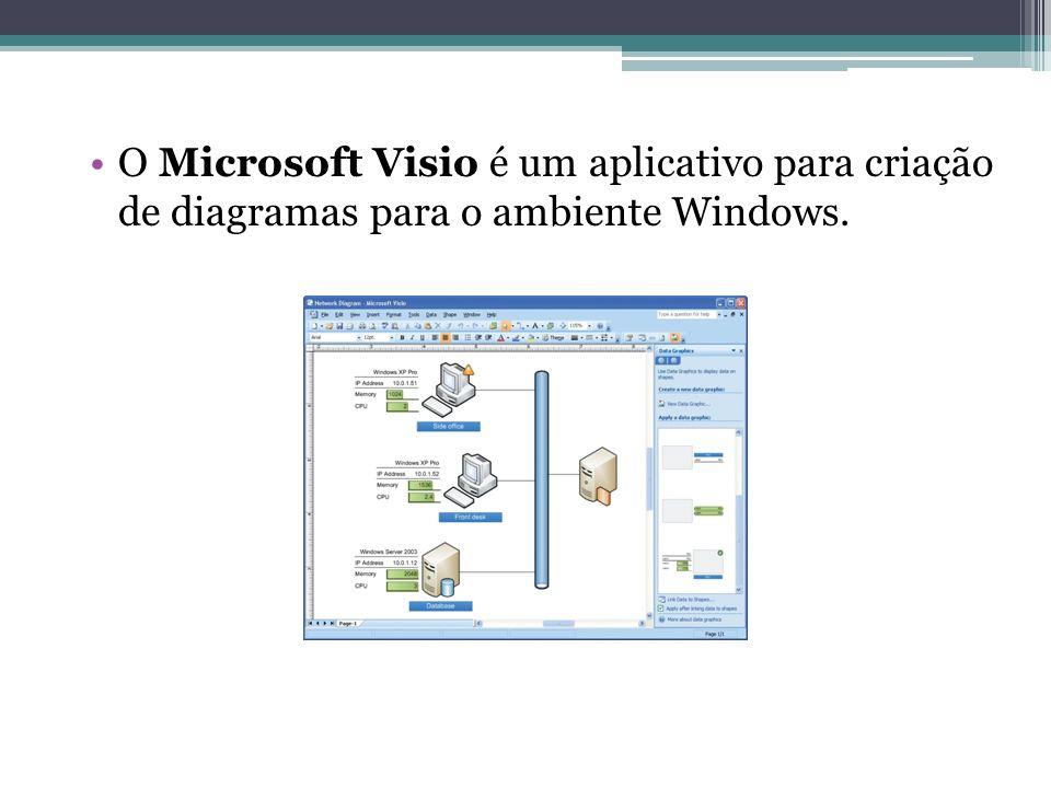 O Microsoft Visio é um aplicativo para criação de diagramas para o ambiente Windows.