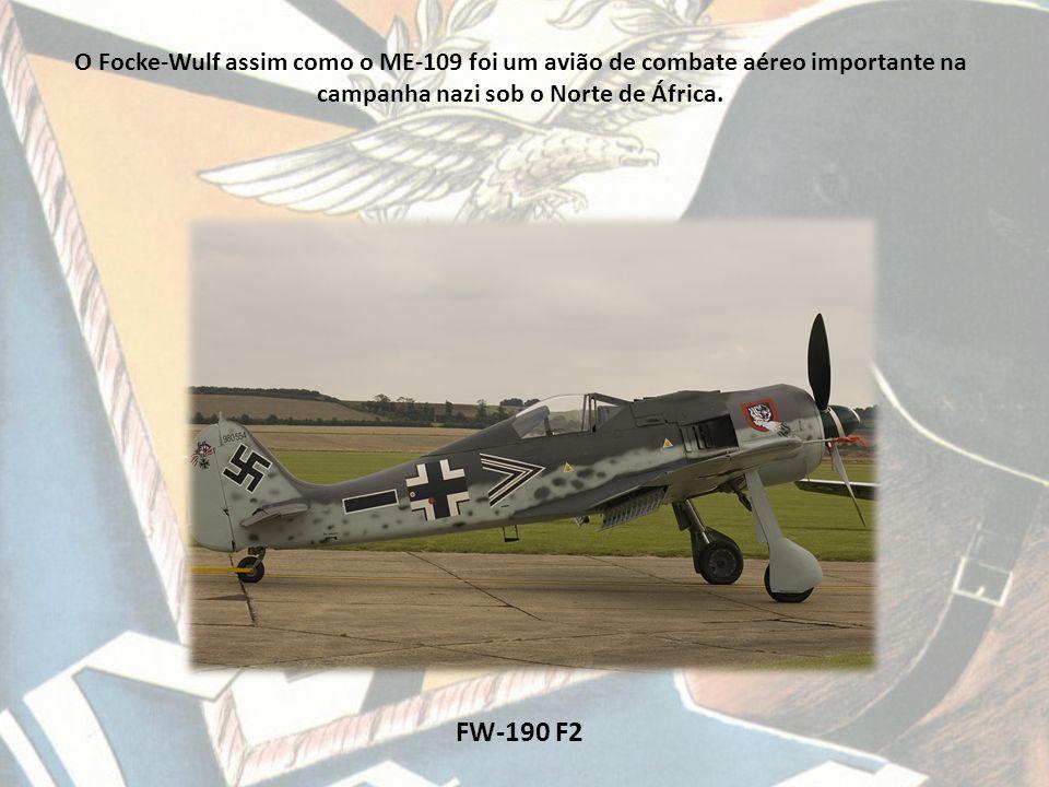 O Focke-Wulf assim como o ME-109 foi um avião de combate aéreo importante na campanha nazi sob o Norte de África.