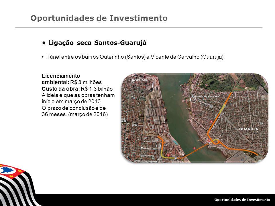 • Ligação seca Santos-Guarujá