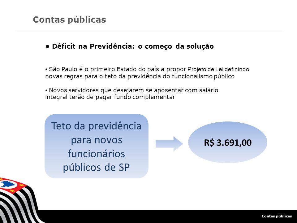 Teto da previdência para novos funcionários públicos de SP