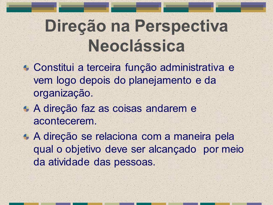 Direção na Perspectiva Neoclássica