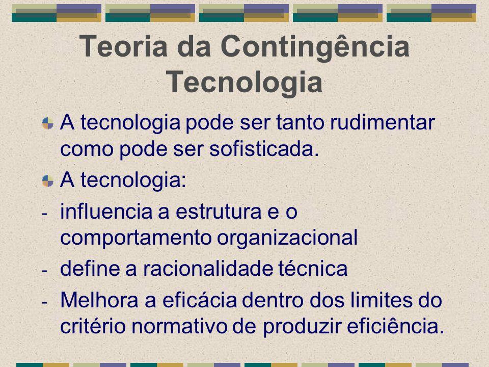 Teoria da Contingência Tecnologia