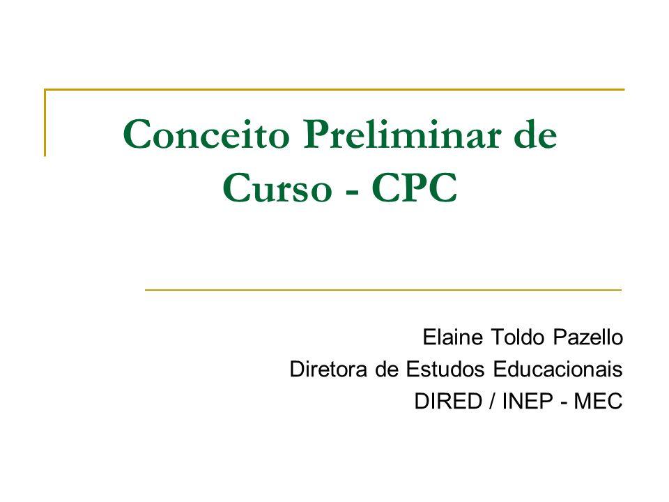 Conceito Preliminar de Curso - CPC