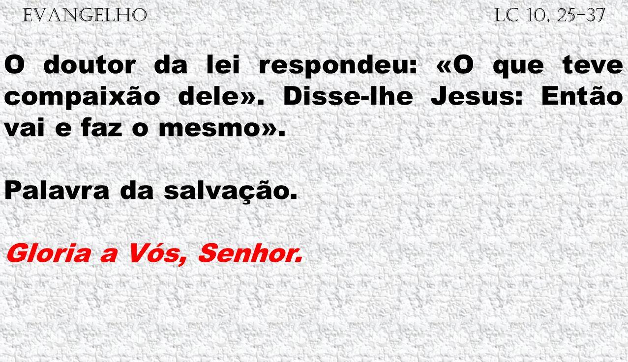 EVANGELHO Lc 10, 25-37