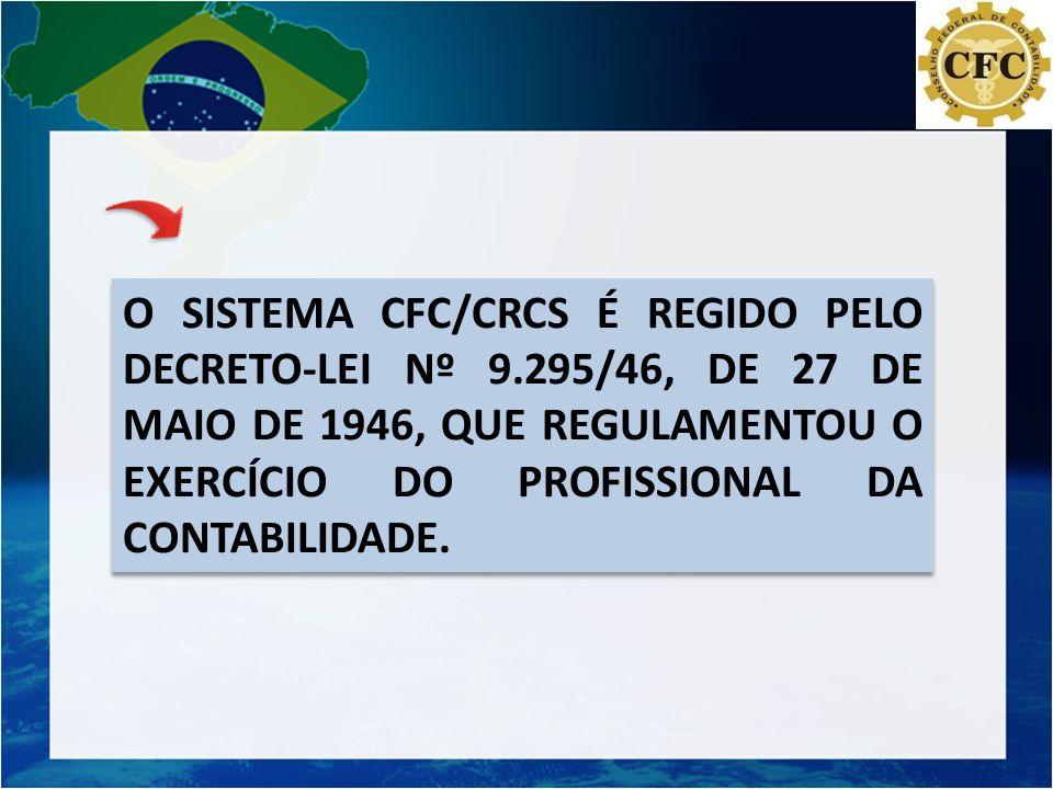 O SISTEMA CFC/CRCS É REGIDO PELO DECRETO-LEI Nº 9