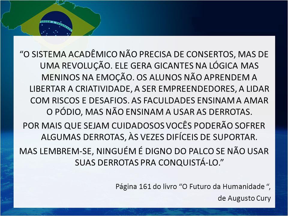 O SISTEMA ACADÊMICO NÃO PRECISA DE CONSERTOS, MAS DE UMA REVOLUÇÃO
