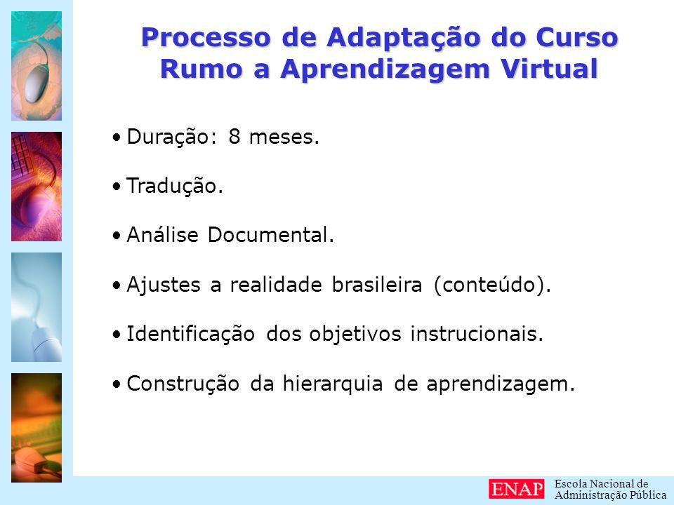 Processo de Adaptação do Curso Rumo a Aprendizagem Virtual