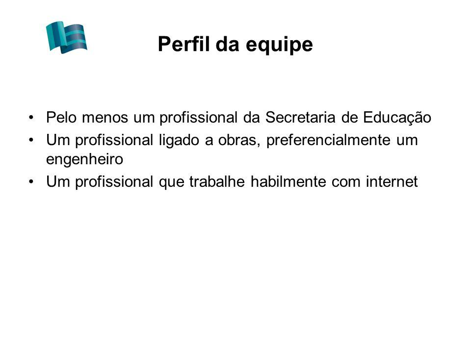 Perfil da equipe Pelo menos um profissional da Secretaria de Educação