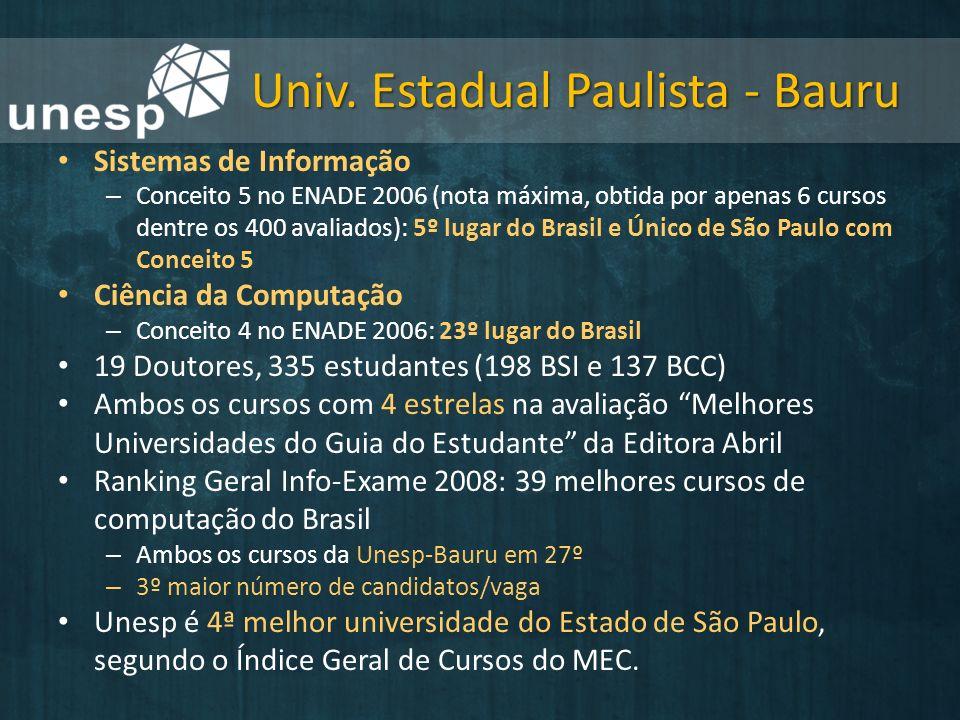 Univ. Estadual Paulista - Bauru