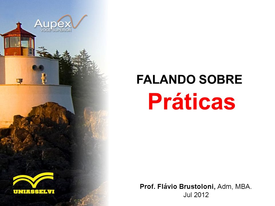 Prof. Flávio Brustoloni, Adm, MBA.