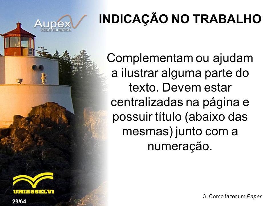INDICAÇÃO NO TRABALHO